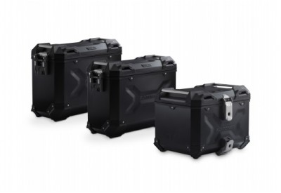 TraX Adventure Set Luggage BMW F750-850GS  OEM Stainless Steel Rack - Black ADV.07.897.75000/B SW-Motech