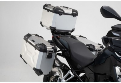 TraX Adventure Set Luggage BMW F750-850GS  OEM Stainless Steel Rack - Silver ADV.07.897.75000/S SW-Motech