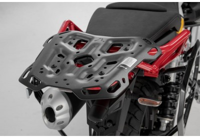 Adventure Rack Moto Guzzi V85TT for attachment of soft and hard luggage. GPT.17.925.19000/B SW-Motech