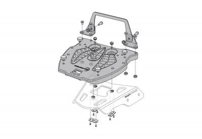 Hepco and Becker Adapter Plate for Alu Racks GPT.00.152.410 SW-Motech