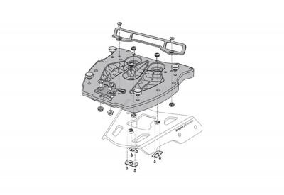 Adapter Plate Shad for Alu Racks GPT.00.152.415 SW-Motech
