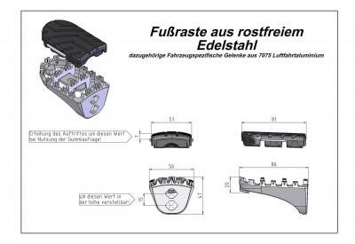 Footpegs On-Off Road BMW F800 -F700GS  FRS.07.011.10101/S SW-Motech