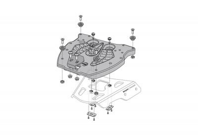 Adapter Plate TraX For Alu Racks GPT.00.152.400 SW-Motech