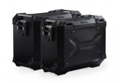 TraX Adventure Side Case Set Moto Guzzi V85-TT KFT.17.925.70000/B SW-Motech
